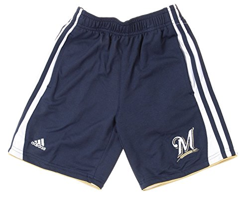 MLB Milwaukee Brewers Little Boys Kids Batters Choice Shorts, Navy (Large ()