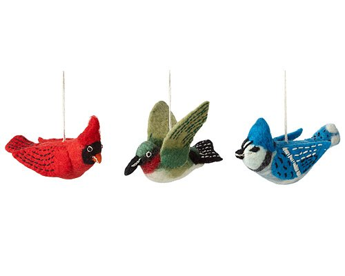 Wild Woolies Felt Bird Ornaments by Wild Woolies