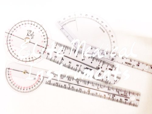 "EMI 3 Piece Pocket Goniometer Set: 6"", 6"" 180 Degree, and..."