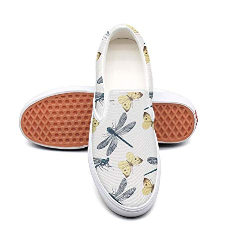 Vosda Women's 3D Real Dragonfly Butterfly Sneaker Shoes for Mens Print Running Shoes