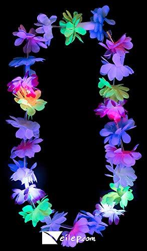 Flashing Panda LED Multi-Color Light-Up Flashing Hawaiian Lei Necklace String, Assorted -