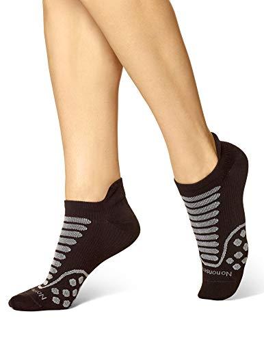 No nonsense Women's Mesh No Show Socks, Blister Free, Black, One Size (3-Pack) (No Nonsense Cushioned Socks)