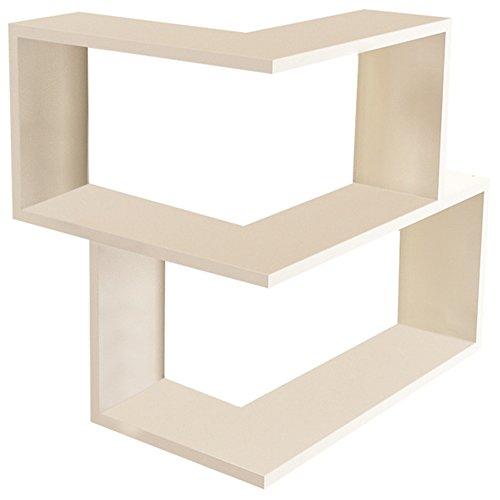 Bookcase 18' (Wright Modern Floating Corner Shelf 14'' x 22'' x 18'' / Wall Storage / Shelving Unit)