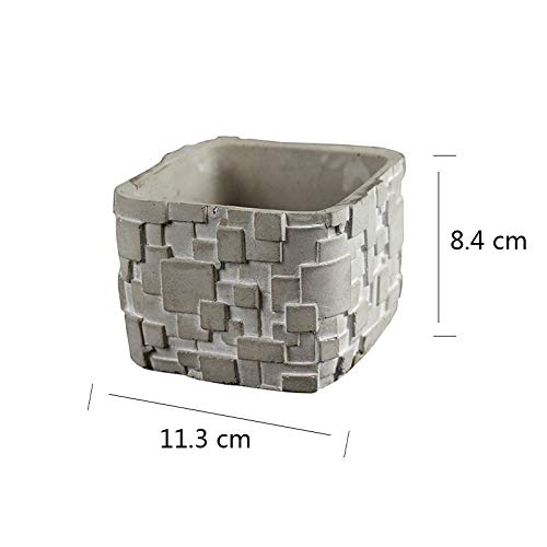Silicone Mold for Succulent Planter Flower Pot Mould Square Ceramic Clay Craft Casting Concrete Molds
