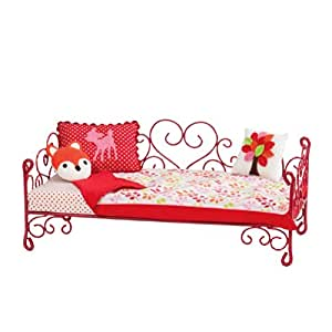Our Generation Heart Love Bird Scroll Bed for 18 inch dolls like American Girl