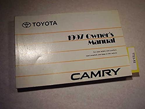 1997 toyota camry owners manual toyota amazon com books rh amazon com 1997 toyota camry v6 manual 1997 toyota camry manual transmission