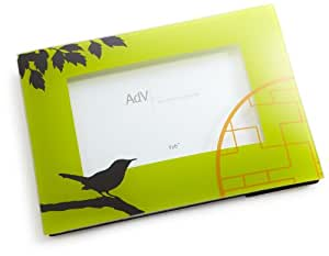 Acentos de Ville pájaro de marco, color verde, 4 x 15,24 cm