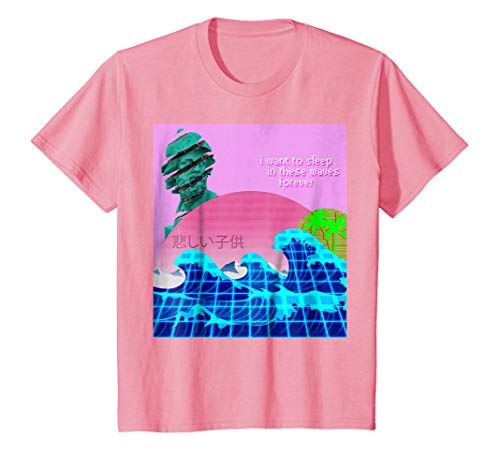 Vaporwave Japanese Otaku Aesthetic Sad Child T-shirt