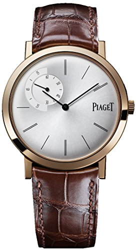 Piaget Altiplano Men's Rose Gold Ultra-Thin Hand-Wound Mechanical Silver Dial Swiss Made Watch G0A34113