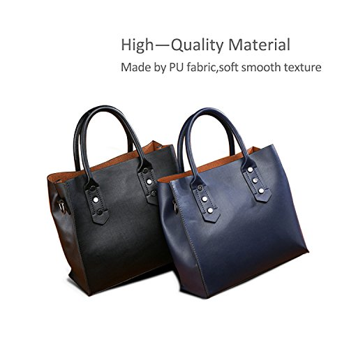 Handbags Fashion Bags Soft Large amp;DORIS for Handle NICOLE 2018 Women Brown Top Women's Bag Blue Fashion New Capacity Shoulder Leather PU Tote HWpxOaq