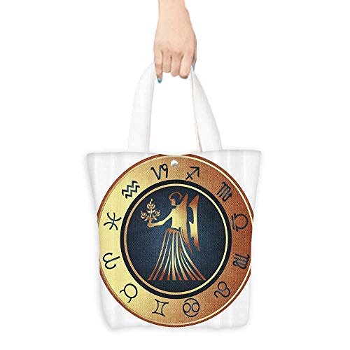 Travel Shoulder Tote Bag Circle Twelve Sign Fantasy Woman Hold g Durable and Practical W11 x H11 x D3 INCH