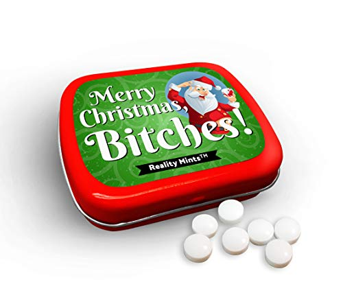 Merry Christmas Bitches Mints Cute Holiday Gags for