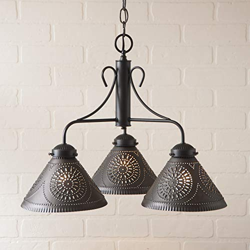 Irvins Country Tinware Barrington Chandelier Early American Traditional Chandelier