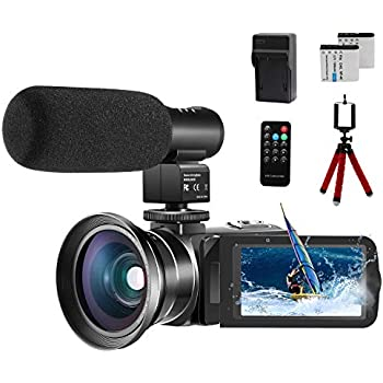 Amazon com : 4K Camcorder Vlogging Video Camera for YouTube