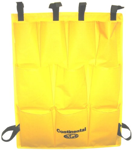 CMC 277 Yellow Vinyl 10-Pocket Caddy Bag, 19