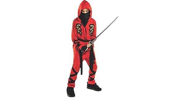 Gvjh Halloween Policy 2020 Amazon.com: Fire Dragon Ninja Child Costume   X Large: Toys & Games