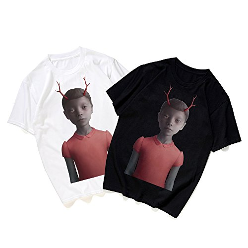 T black Oversize Pizoff Stampa In Hip shirt Hop Y1872 Carina Cotone Divertente Streetwear Unisex Tnx4BOdwqx