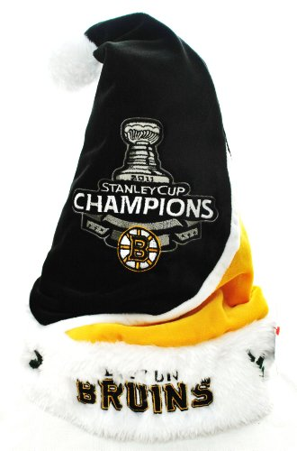 Boston Bruins 2011 NHL Stanley Cup champions swoop santa hat