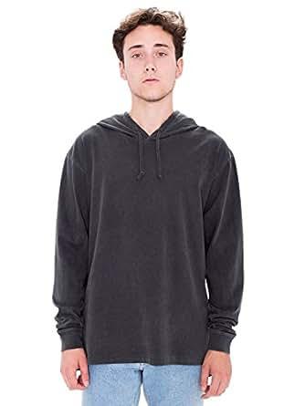 American Apparel Men Color Wash Hammer Hoodie Size 2XL Washed Black