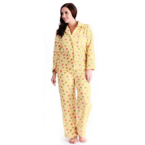 verkauft baby hoch gelobt Damen Fleece Schlafanzug / Pyjama, langärmlig, Oberteil und Hose, besonders  weich