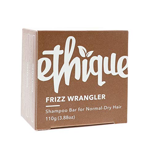 Ethique Eco-Friendly Solid Shampoo Bar for Normal-Dry or Frizzy Hair, Frizz Wrangler - Sustainable Natural Shampoo, Soap Free, Plastic Free, Vegan, Plant Based, 100% Compostable & Zero Waste, 3.88oz