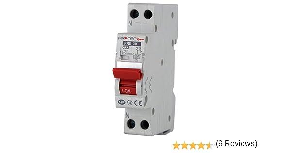Electraline prd3kc32/disyuntor de protecci/ón para cuadro el/éctrico 32/A