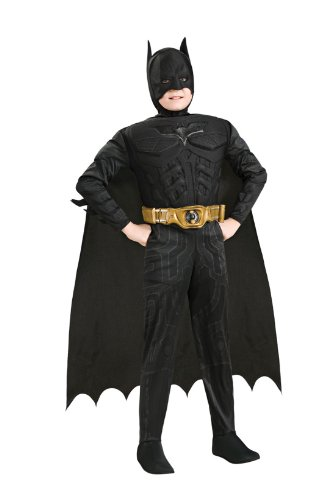 881290 (Small 4-6) Batman Dark Knight Rises Child Muscle Chest - Batman Costume 2-3 Years