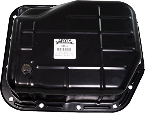 APDTY 112743 Transmission Oil Pan Assembly Fits 42RE Automatic Trans Found On 1998-2003 Dodge Dakota / 1998-2000 Dodge Durango / 2000-2004 Jeep Grand Cherokee w/4.0L Engine (Replaces Mopar 52118779AD, 52118779AC, 52118779AB, 052118779AD)