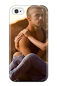 Tpu Case Cover For Iphone 4/4s Strong Protect Case - Two Lovers On Sand At Sunset Design