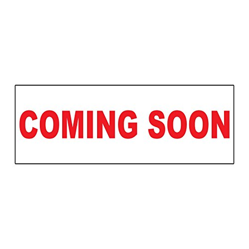 (Coming Soon Red METAL ALUMINUM Real Estate Rider Sign - 1 or 2 Side Print /6 in x 24 in One Side Print)