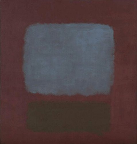 40W x 36H No. 37 / No. 19 (Slate Blue and Brown on Plum), 1958 by Mark Rothko - Stretched Canvas