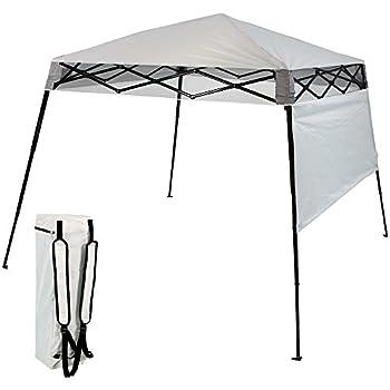 Sunnydaze Compact Quick-Up Slant Leg Instant Pop-Up Backpack Canopy 6 x 6 Foot Top 7.5 x 7.5 Foot Bottom Light Grey  sc 1 st  Amazon.com & Amazon.com : 6x6 Pop up Canopy (1) : Garden u0026 Outdoor