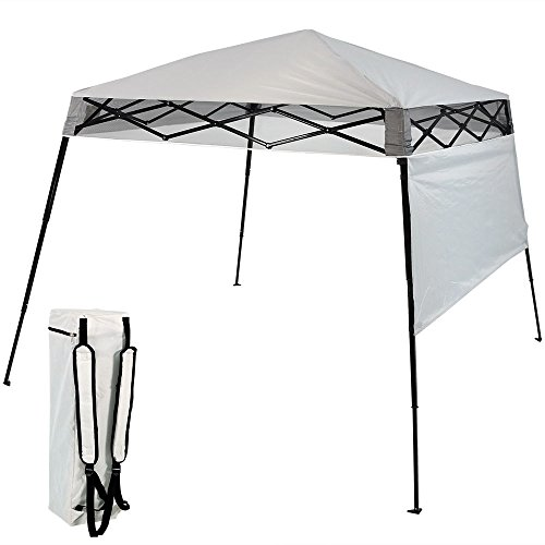 7.5' Center Panel (Sunnydaze Compact Quick-Up Slant Leg Instant Pop-Up Backpack Canopy, 6 x 6 Foot Top, 7.5 x 7.5 Foot Bottom, Light Grey)