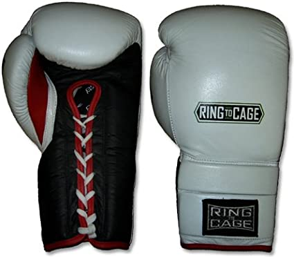 Lace-up RING TO CAGE 14oz through 24oz Deluxe MiM-Foam Sparring Gloves New!