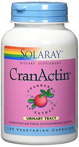 Solaray Cranactin Cranberry AF Extract Capsules, 400 mg, 120 (Solaray 120 Capsules)