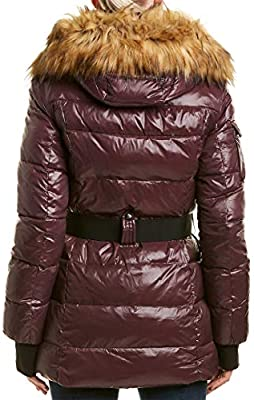 S13 Womens Karlie Mid Length Belted Down Coat