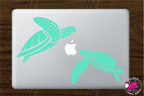 MINT GREEN Sea Turtle Couple Swimming Vinyl Decal Stickers for MacBook Laptop Car Love Forever Birds Always Relationships Feathers Peace Tough Strength Strong Strength Hope Inspiration Dreamer