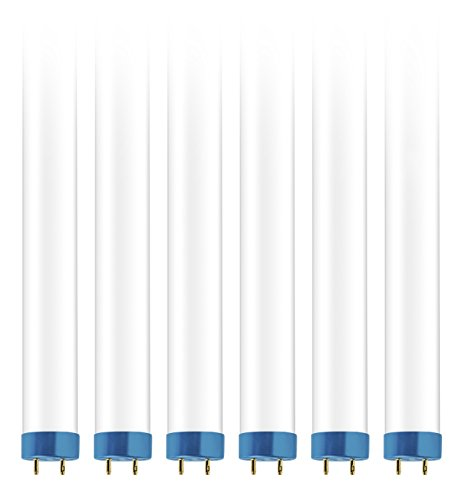- Hyperikon 4 Foot Hybrid, 40 Watt (18W) Frosted, T8 T10 T12 Tube Lighting, 4000k Daylight, T8 T10 T12 (6 Pack)