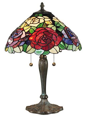 Dale Tiffany TT14114 Tiffany Rose Table Lamp Antique Bronze/Verde