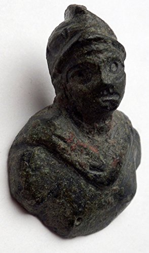 (Ancient Roman MARS BUST Miniature Amulet of Protection Figure of Soldier i44981)