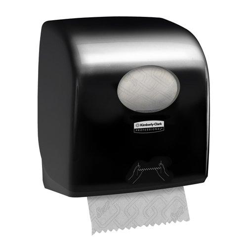 1 x 1 Dispenser Aquarius 7376 Rolled Hand Towel Dispenser Black