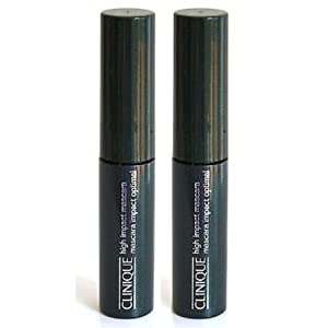 Clinique High Impact Mascara 01 Black Mascara Impact Optimal .14 oz Each (Lot of 2)