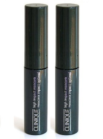 Clinique High Impact Mascara 01 Black Mascara Impact Optimal .14 oz Each (Lot of 2) ()