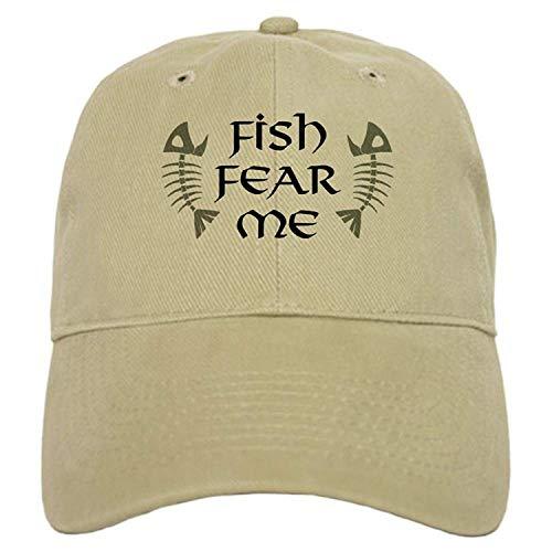 Fish Fear Me Cap - Baseball Cap Adjustable Closure, Unique Printed Baseball Hat -