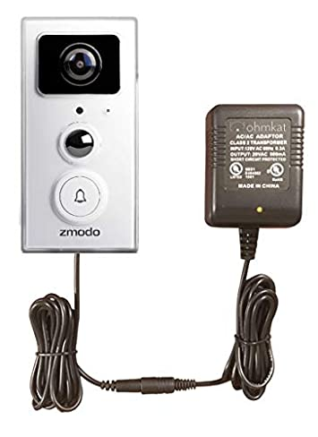 OhmKat Video Doorbell Power Supply – Compatible with Zmodo Greet – Needs No Existing Wiring – Transformer, Adapter, Power Kit Supply All In One