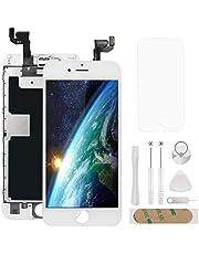 """Atokit écran pour iPhone 6s Blanc 4,7"""" LCD de Remplacement Complet -préassemblés LCD avec capteur de proximité, caméra Frontale, écouteur et Plaque arrière en métal Kit d'outils de réparation"""