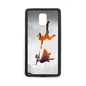 Printed Cover Protector Samsung Galaxy Note 4 N9108 Cell Phone Case BlackBioShock Infinite FallingMsgpz Unique Design Cases