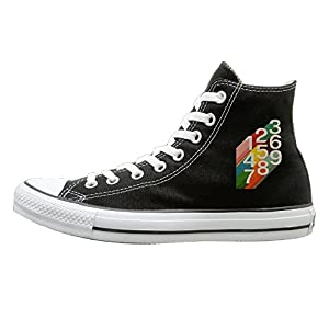 SH-rong Retro Numbers High Top Sneakers Canvas Shoes Fashion Sneakers Shoes Unisex Style Size 35