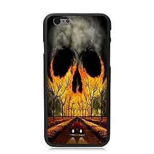 ZMY el caso duro fresco diseño del cráneo para el iphone 6 más