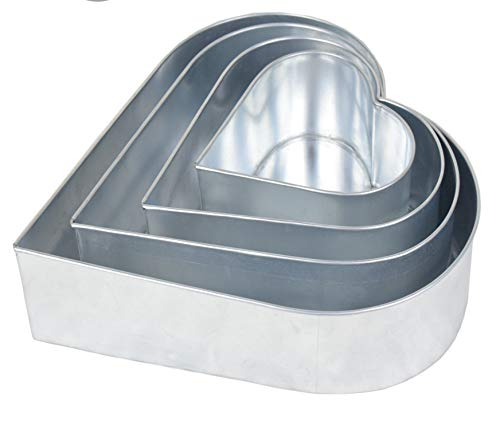 4 Tier Heart Multilayer Wedding Birthday Anniversary Baking Cake Tins Cake Pans 6
